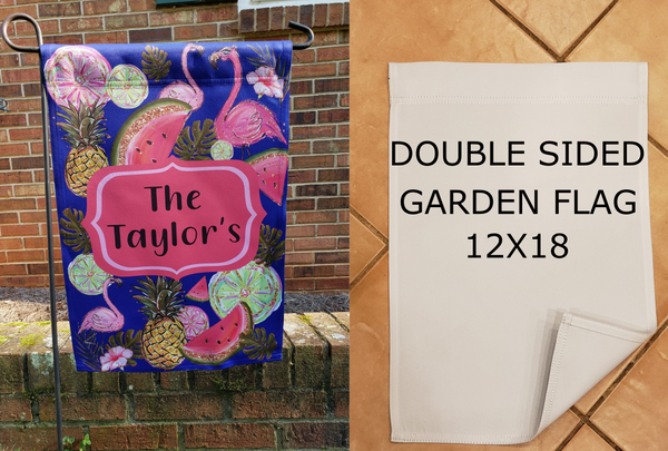 Double sided 100% polyester garden flag (sublimation ready)