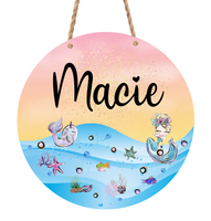 Sublimation print only - Personalized mermaid round - Made for our MDF sublimation rounds