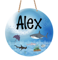 (Instant Print) Digital Download -  Add you own name shark round