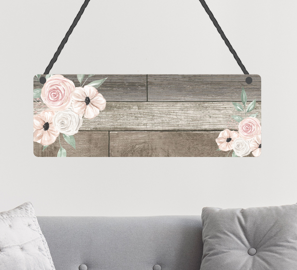 (Instant Print) Digital Download - Beatiful wood with floral - Add your own words