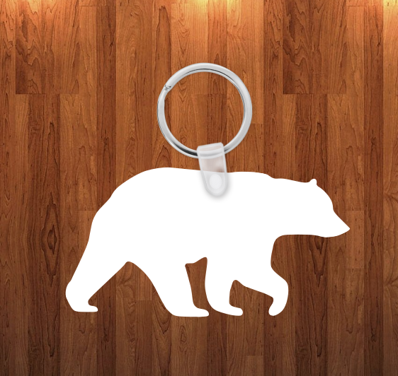 Bear Keychain - Single sided or double sided  -  Sublimation Blank