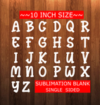 10inch Letter Sublimation Blank - NO HOLES - Custom Cut