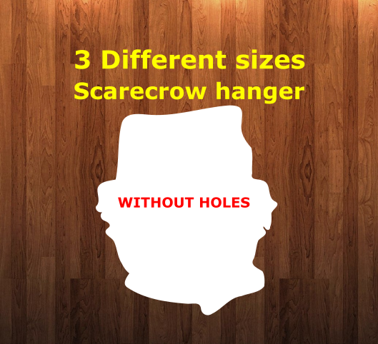 Scarecrow WITHOUT holes - Wall Hanger - 3 sizes to choose from -  Sublimation Blank  - 1 sided  or 2 sided options
