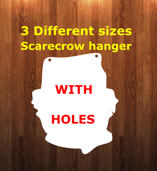 Scarecrow WITH holes - Wall Hanger - 3 sizes to choose from -  Sublimation Blank  - 1 sided  or 2 sided options