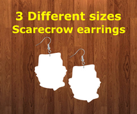 Scarecrow earrings size 1.5 inch - BULK PURCHASE 10pair