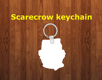 Scarecrow Keychain - Single sided or double sided  -  Sublimation Blank
