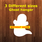 Ghost WITHOUT hole - Wall Hanger - 3 sizes to choose from -  Sublimation Blank  - 1 sided  or 2 sided options