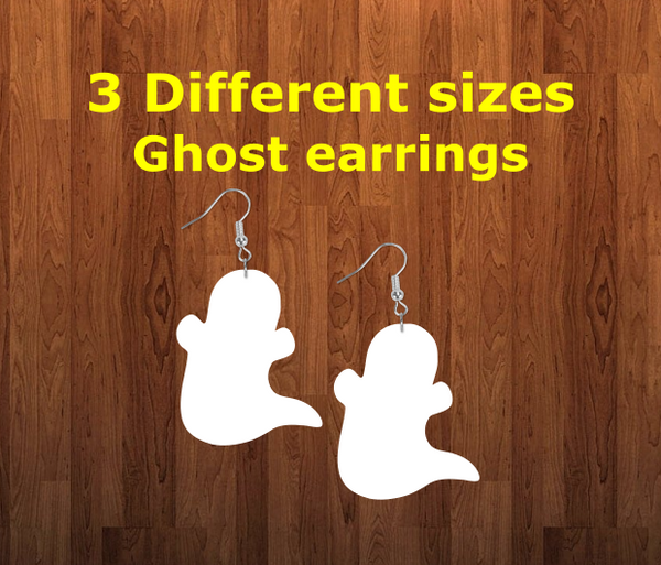 Ghost earrings size 2.5 inch - BULK PURCHASE 10pair