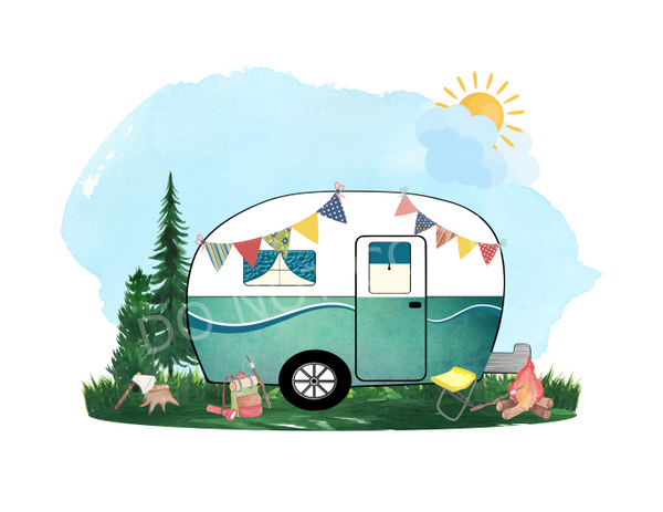 (Instant Print) Digital Download - Camper design