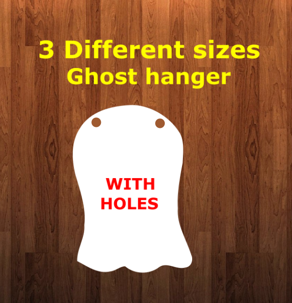 Ghost WITH holes - Wall Hanger - 3 sizes to choose from -  Sublimation Blank  - 1 sided  or 2 sided options