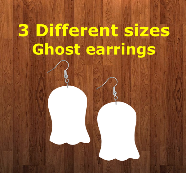 Ghost earrings size 2 inch - BULK PURCHASE 10pair