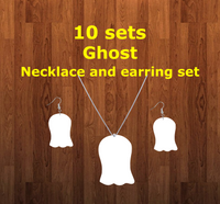 Ghost necklace sets- you get 10 sets - BULK PURCHASE 10pair earrings and 10pc necklace