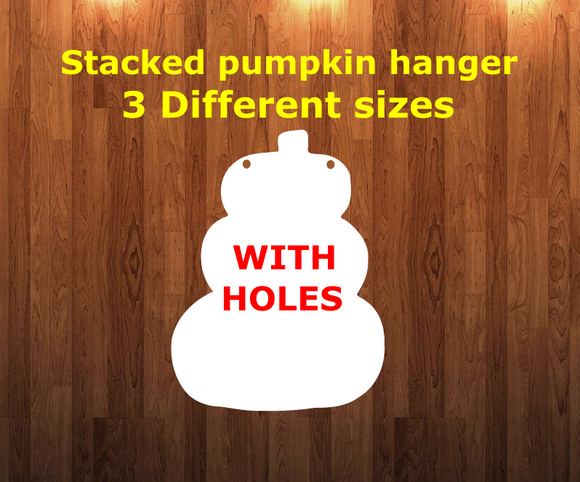 Pumpkin WITH holes - Wall Hanger - 3 sizes to choose from -  Sublimation Blank  - 1 sided  or 2 sided options