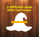 Witch Hat WITHOUT holes - Wall Hanger - 3 sizes to choose from -  Sublimation Blank  - 1 sided  or 2 sided options