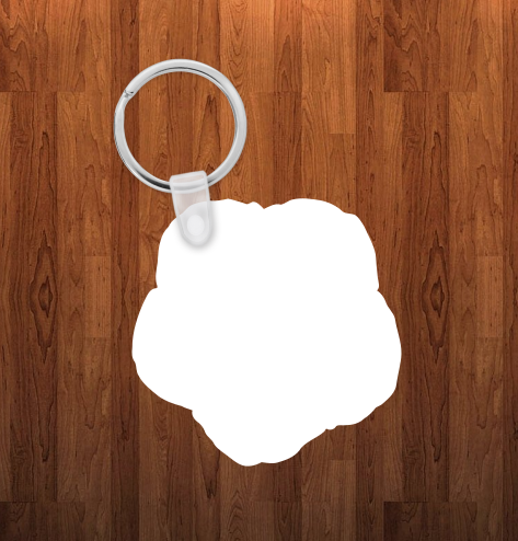 Morning glory Keychain - Single sided or double sided  -  Sublimation Blank