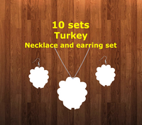 Turkey necklace sets- you get 10 sets - BULK PURCHASE 10pair earrings and 10pc necklace
