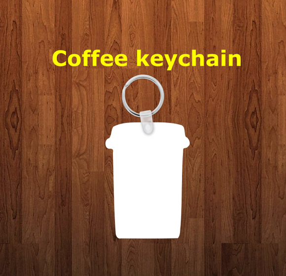 Coffee cup Keychain - Single sided or double sided  -  Sublimation Blank