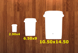 Coffee cup WITHOUT holes - Wall Hanger - 3 sizes to choose from -  Sublimation Blank  - 1 sided  or 2 sided options