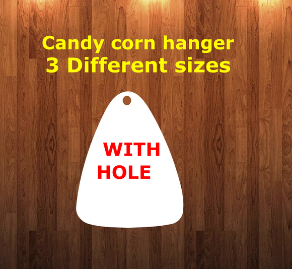 Candy corn WITH holes - Wall Hanger - 3 sizes to choose from -  Sublimation Blank  - 1 sided  or 2 sided options