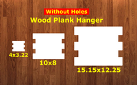 Wood plank sign WITHOUT holes - Wall Hanger - 3 sizes to choose from -  Sublimation Blank  - 1 sided  or 2 sided options