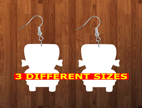 Truck earrings size 2 inch - BULK PURCHASE 10pair - Sublimation blanks