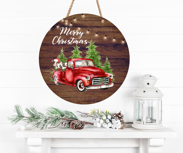 (Instant Print) Digital Download - Merry Christmas Cow & Truck 2pc bundle  - made for our  blanks