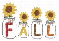 (Instant Print) Digital Download - Fall Mason Jar