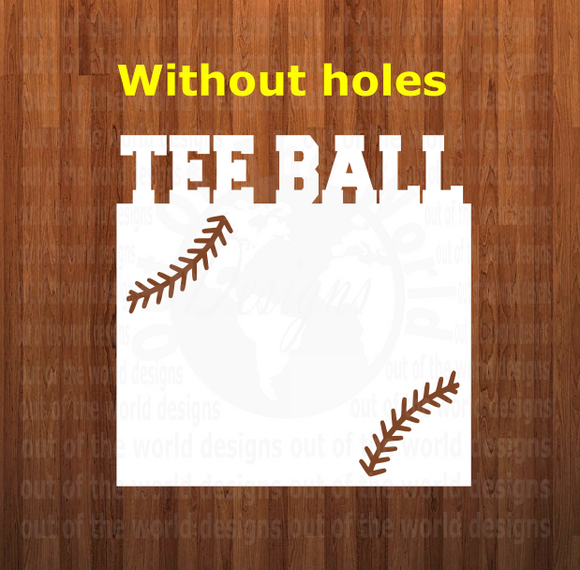 Tee ball WITH laces top frame withOUT holes - 3 different sizes use drop down bar -  Sublimation Blank MDF Single Sided