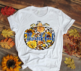 Sublimation print - Thankful Sunflower Pumpkin