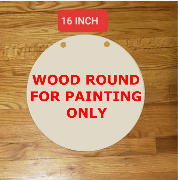 16 inch Wood Round Blanks For Painting