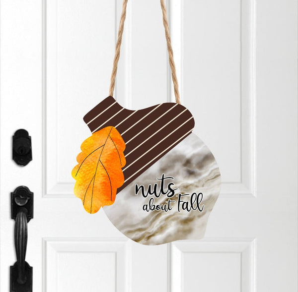 Sublimation print (ONLY) - Nuts about fall Acorn - Made for our MDF sublimation blanks