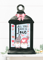 (Instant Print) Digital Download -All you need is love gnome lantern - made for our blanks
