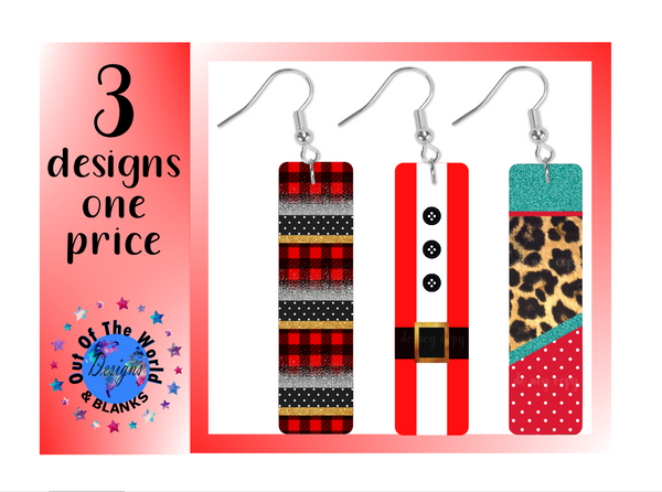 (Instant Print) Digital Download - Bar earring 3pc bundle -  design made for our earring blanks