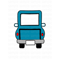 (Instant Print) Digital Download - Blue truck