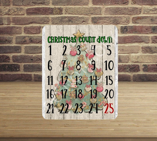 Christmas count down - Made for our MDF sublimation boards