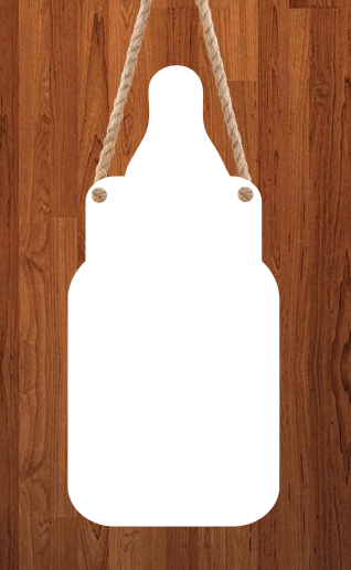 Baby bottle hanger - With holes - 3 different sizes use drop down bar -  Sublimation Blank MDF Single Sided
