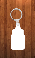 Baby bottle Keychain - Single sided or double sided  -  Sublimation Blank