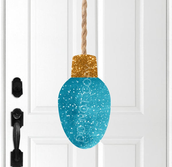 Sublimation print ONLY - Blue glitter bulb  - Made for our MDF sublimation blanks