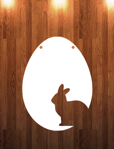 Bunny cut out egg Size - 10.5x14 Sublimation Blank MDF Single Sided