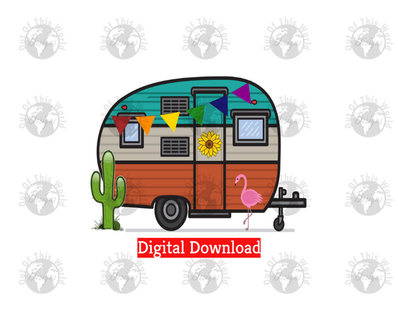 Camper (Instant Print) Digital Download