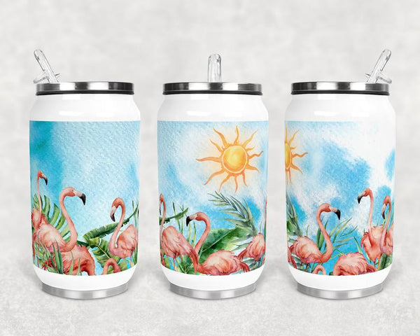 Sublimation print (ONLY) - Flamingo can cup - Can cup print