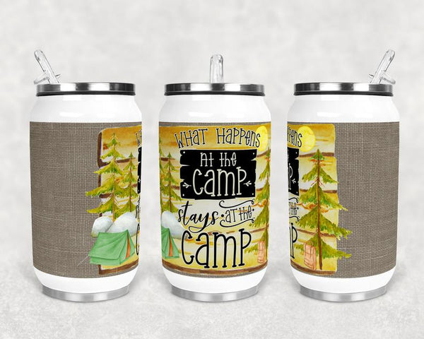 Sublimation print (ONLY) - What happens at the camp stays at the camp can cup - Can cup print