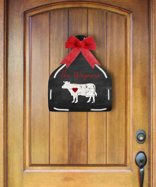 Sublimation print - Personalized cattle cow tag hanger - Made for our MDF sublimation blanks