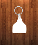 Cattle Keychain - Single sided or double sided  -  Sublimation Blank