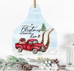 (Instant Print) Digital Download - At Christmas all roads lead home cow cattle tag - Made for out MDF blanks