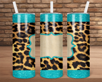 (Instant Print) Digital Download - 20oz skinny tampered Cheetah tumbler wrap