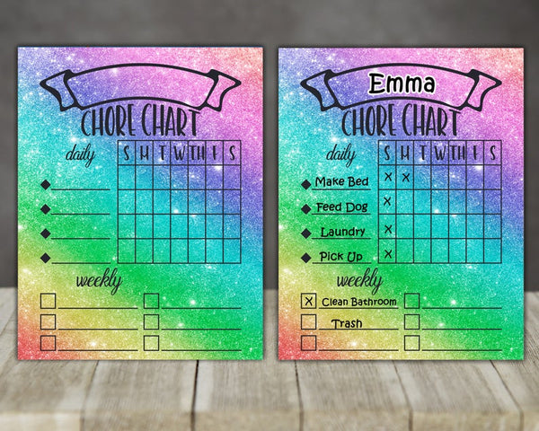 Sublimation print - Chore chart - Use our MDF blank and a dry erase marker