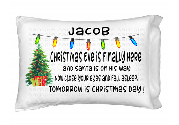 (Instant Print) Digital Download - Christmas pillow case design (you add your own name)