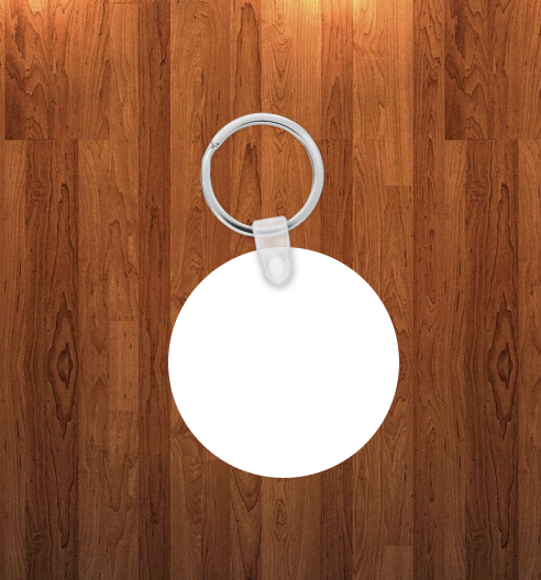 Round Keychain - Single sided or double sided  -  Sublimation Blank
