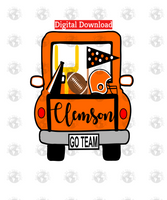 Clemson football truck (Instant Print) Digital Download